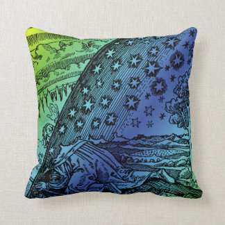 Flammarion Heaven and Earth Engraving Artwork Cushion
