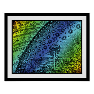 Flammarion Heaven and Earth Engraving Poster