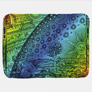 Flammarion Heaven and Earth Engraving Receiving Blanket