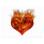 Flammendes Herz! Postkarten