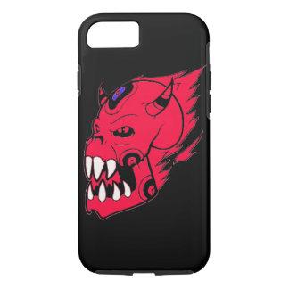 Flamming skull apple iPhone 7 case spooky design