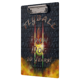 Flamz Flyball Iron Dog - 10 years of competition! Clipboard