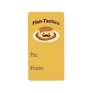 Flan-Tastico! Cute Flan Address Label