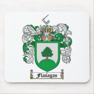 FLANAGAN FAMILY CREST -  FLANAGAN COAT OF ARMS MOUSE MAT