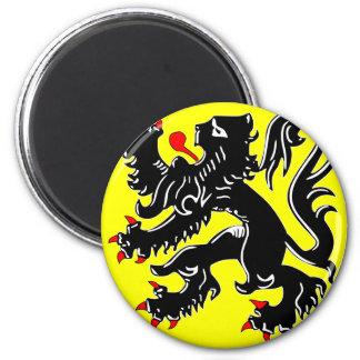 Flanders, Belgium flag Magnet