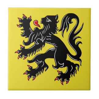 Flanders (Belgium) Flag Tile