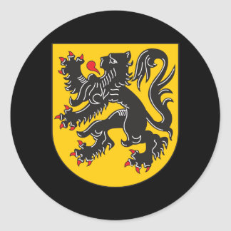 Flanders Coat Of Arms Classic Round Sticker