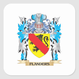 Flanders Coat of Arms - Family Crest Square Sticker