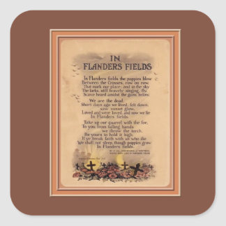 Flanders Fields Remembrance Day Stickers