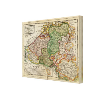 Flanders or the Austrian Netherlands Canvas Print