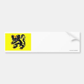 Flanders Region Flag Bumper Sticker