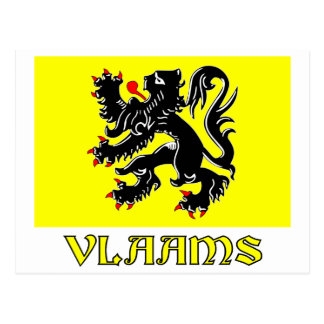 Flanders Region Flag with Name Postcard