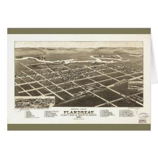 Flandreau South Dakota (1883) Greeting Card