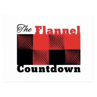 Flannel Countdown Postcard