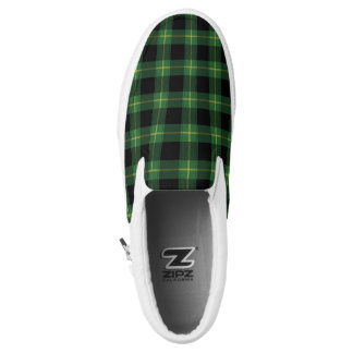 Flannel Green Buffalo Plaid Pattern Fall Autumn Slip-On Shoes