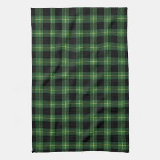Flannel Green Buffalo Plaid Pattern Fall Autumn Tea Towel