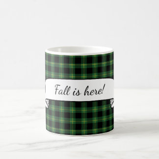 Flannel Green Buffalo Plaid Pattern Text Template Coffee Mug