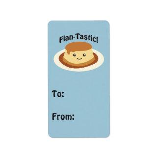 Flantastic! Cute flan Address Label