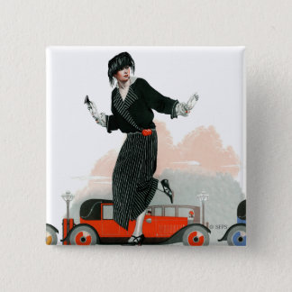 Flapper and Roadster 15 Cm Square Badge