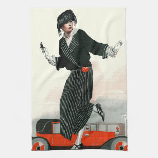 Flapper and Roadster Tea Towel