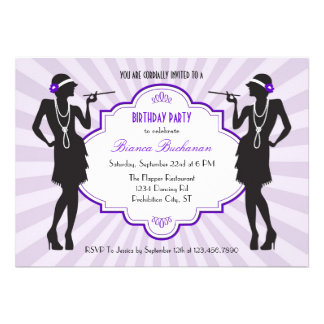 Flapper Birthday Party Invitation