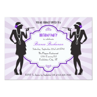Flapper Birthday Party Invitation