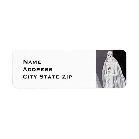 Flapper Bride Return Address Label