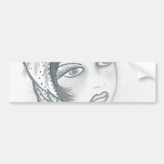 FLAPPER GIRL WITH BOW BUMPER STICKER