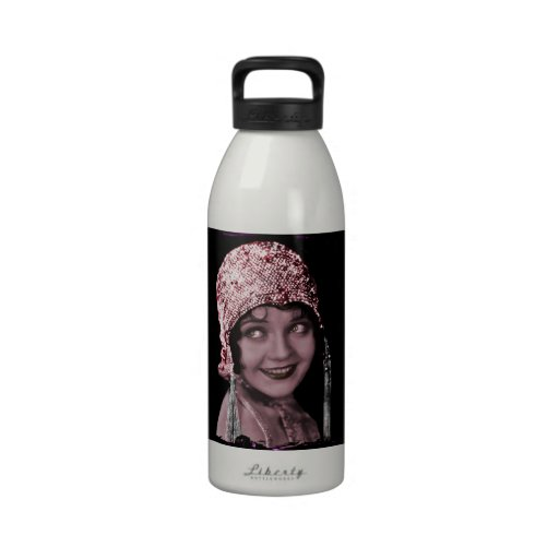 Flapper Lou  in a Sparkling Cap Reusable Water Bottle