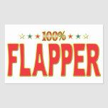 Flapper Star Tag Rectangle Stickers