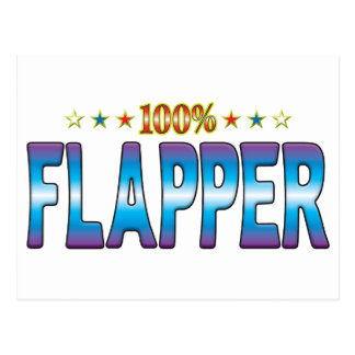 Flapper Star Tag v2 Postcard