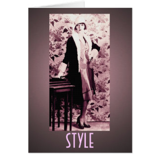 Flapper Style Greeting Card