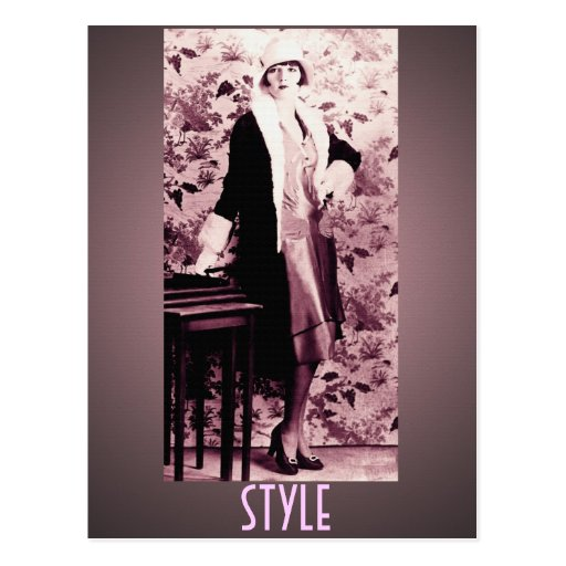 Flapper Style Postcard