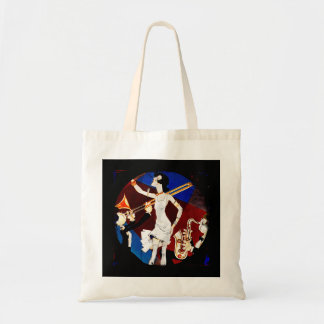 Flapper with a Jazz Band Tote Bag