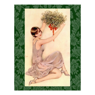 Flapper with Mistletoe 21.5 Cm X 28 Cm Flyer