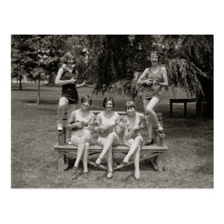 Flappers in Bathing Suits, 1926 Postcards