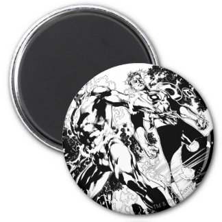 Flash and Green Lantern Panel 2 6 Cm Round Magnet
