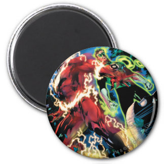 Flash and Green Lantern Panel 6 Cm Round Magnet
