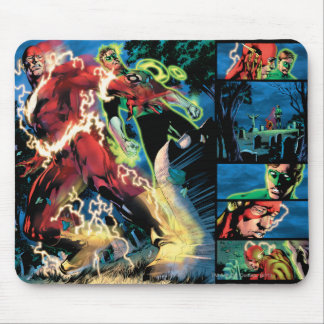 Flash and Green Lantern Panel Mouse Mat