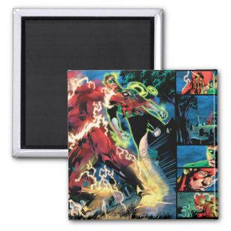 Flash and Green Lantern Panel Square Magnet