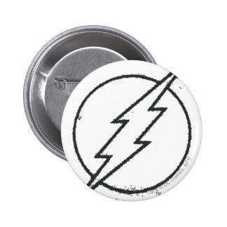 Flash Bolt Grunge BW 6 Cm Round Badge