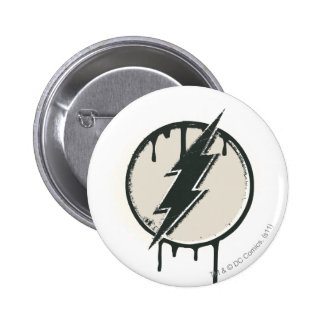 Flash Bolt Paint Grunge 6 Cm Round Badge