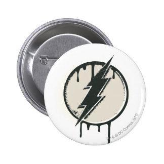 Flash Bolt Paint Grunge 6 Cm Round Badge