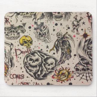 flash death tattoo mouse pad