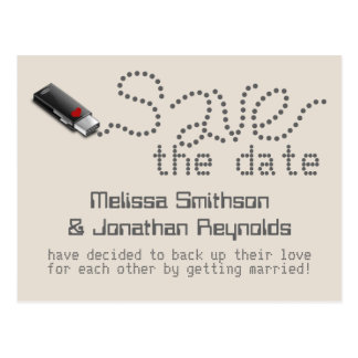Flash Drive Save the Date Postcard