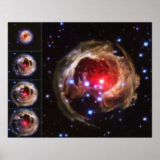 Flash from Red Variable Star V838 Monocerotis Poster