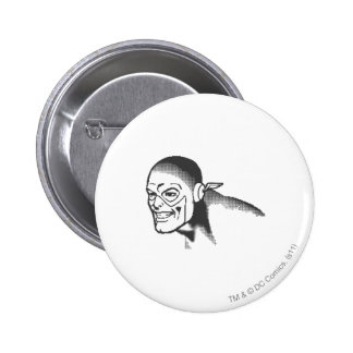 Flash Head Shot BW 6 Cm Round Badge
