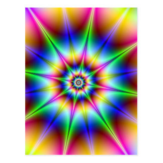 Flash Holograph Optical Illusion Rainbow Disco Postcard