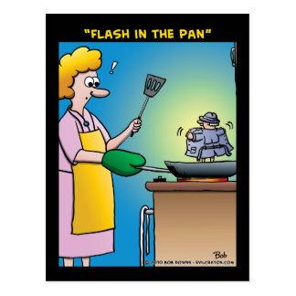 """""""Flash In The Pan"""" Postcard"""