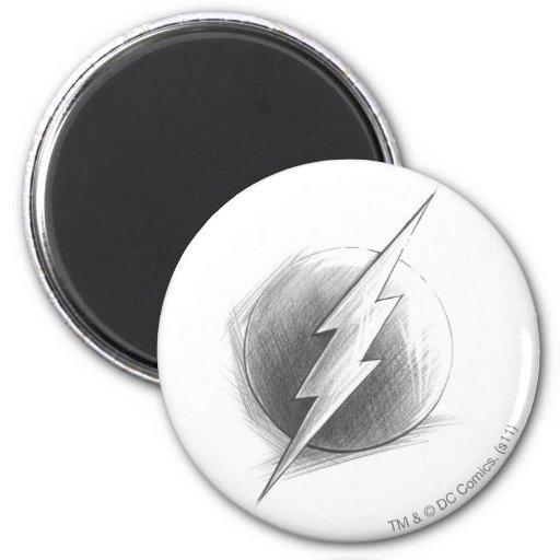 Flash Insignia 6 Cm Round Magnet